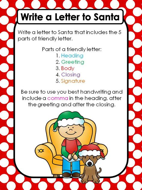 write a letter to santa friendly letter to santa teaching with nancy 9593