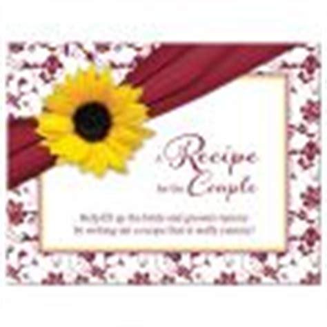 Fall Sunflower Bridal Shower Invitation Burgundy Yellow