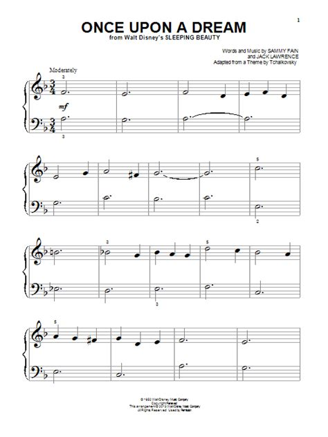 once upon a dream sheet music direct