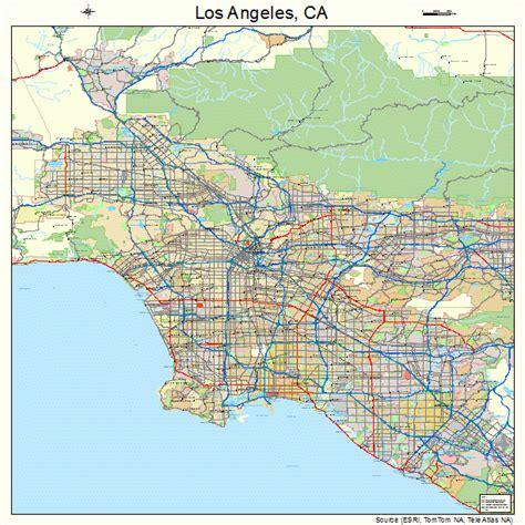 los angeles california street map