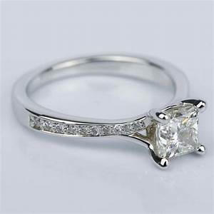 Split Shank Engagement Ring With Princess Diamond  1 07 Ct