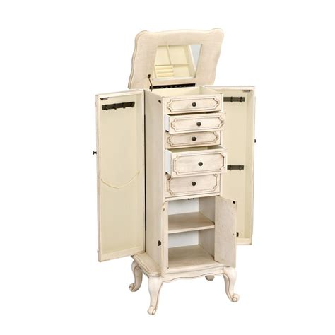 Jewelry Cabinets Furniture by Jewelry Armoires Bedroom Furniture The Home Depot