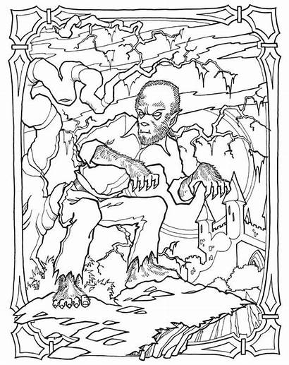 Coloring Pages Science Fiction Monster Adult Halloween