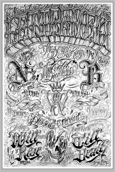 Lettermen Poster by Norm | Tattoo lettering fonts, Tattoo fonts, Chicano lettering