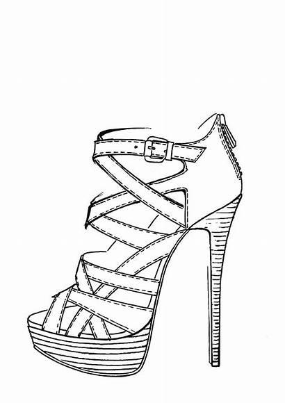 Shoes Heel Shoe Draw Drawing Drawings Sketch