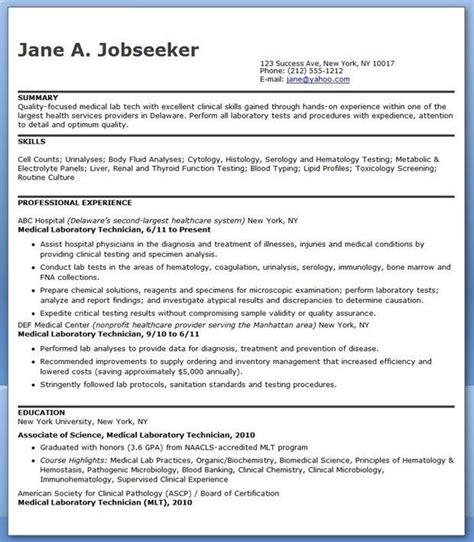 Laboratory Technician Resume by Lab Technician Resume Sle Laboratory
