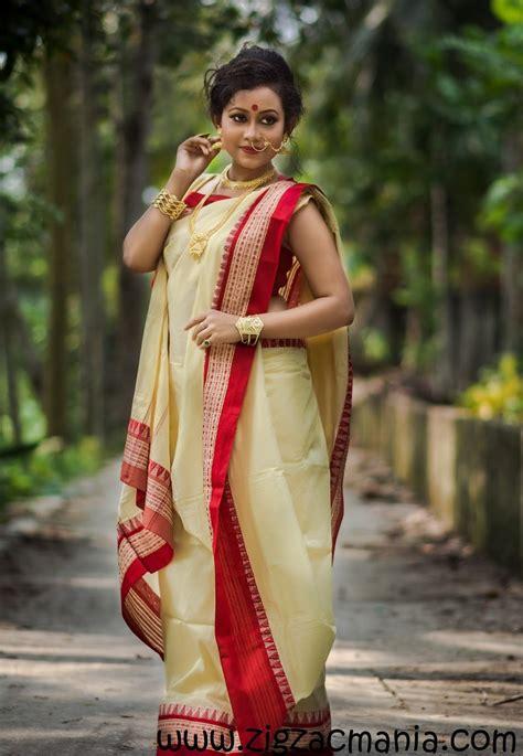 bengali saree draping how to drape a sari in bengali style zig zac mania