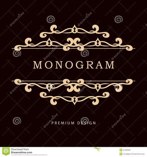 simple  graceful floral monogram design template elegant  art logo design vector