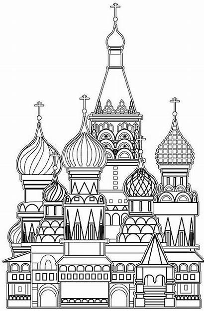 Coloring Pages Buildings Church Grown Colouring Adult