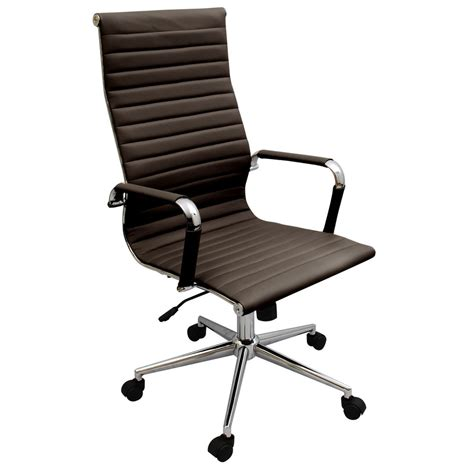 modern ergonomic desk chair new coffee brown modern executive ergonomic ribbed high