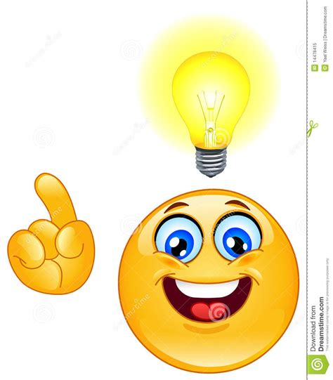 Idea Emoticon Stock Vector. Illustration Of Color