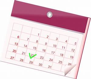 Calendar Icon Clip Art at Clker.com - vector clip art ...