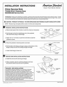 Installation Instructions Clinic Service Sink 710098