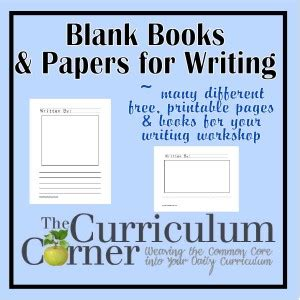 Blank Books & Papers  The Curriculum Corner 123