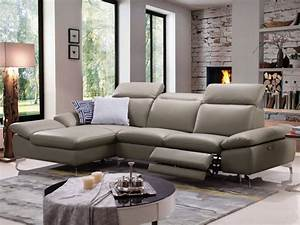 canape d39angle relax electrique cuir avec tetieres marsala With tapis persan avec canape angle buffle