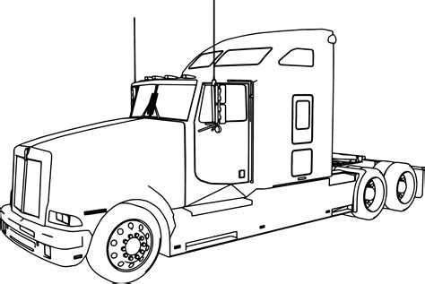 Tractor Trailer Sketches Bing Images