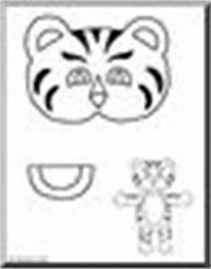 paper bag puppets printable patterns page 1 abcteach With tiger puppet template