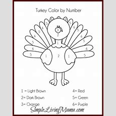 Thanksgiving Activities For Kids + Free Printable Color By Number Turkey  Simple Living Mama