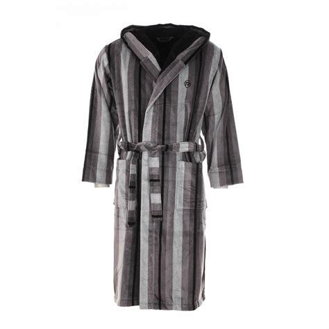 robe de chambre homme lacoste peignoir éponge mariner é gris à capuche extérieur en