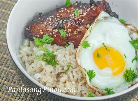 Chicken Teriyaki, Brown Rice, And Sunny Side Up Egg Recipe