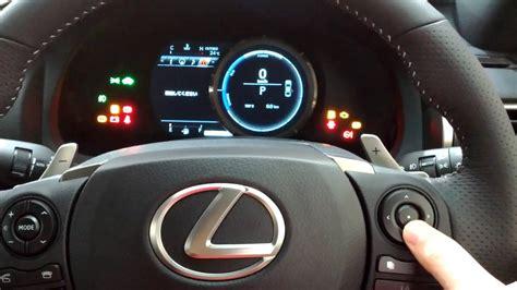 lexus ish hybrid  sport interior meter youtube