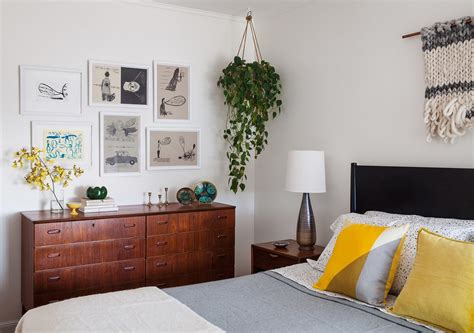 hanging plant bedroom midcentury with modern bedroom