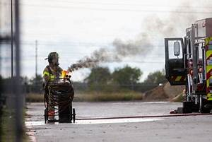 Gas tank catches fire at Victoria manufacturing site ...