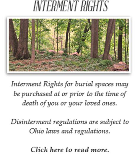 interment regulations for the conservation green burial
