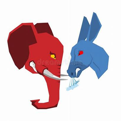 Elephant Donkey Political Democrats Opposition Republicans Parties