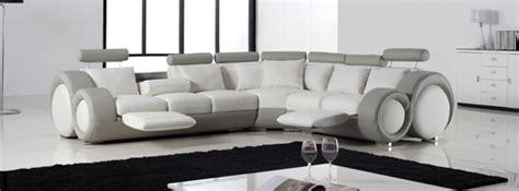 canape angle rond banc cuir blanc design canap design deux places