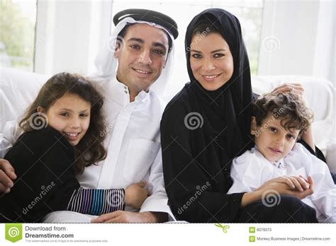 middle eastern family stock  image