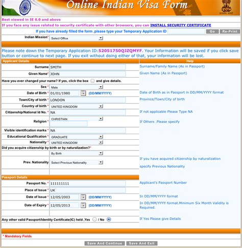 Application Form For Tourist Visa To India From Uk by Indian Visa Online In