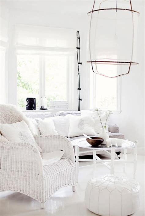 15 Serene All White Living Room Design Ideas  Rilane