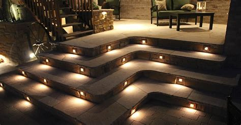 voltage concrete step lights lighting effects