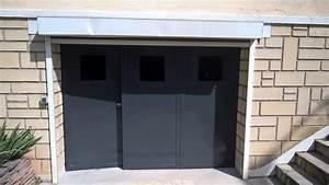 art du fer forge portes de garage 3 vantaux With porte de garage 3 vantaux