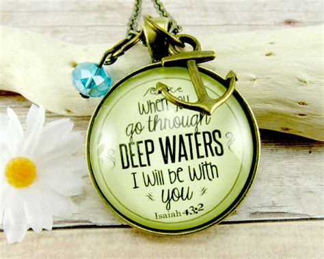 Christian Necklace When You Go Through Deep Waters Isaiah 43 2