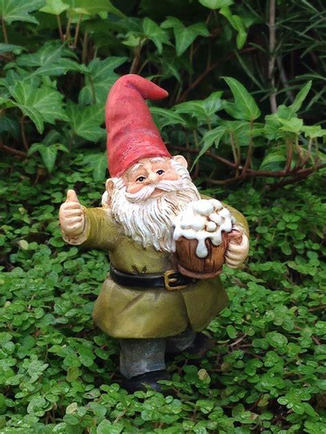 miniature dollhouse garden cheers gnome