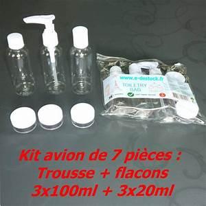 Produit Liquide Avion : trousse de voyage avec flacons pour avion bagage main en cabine ~ Melissatoandfro.com Idées de Décoration