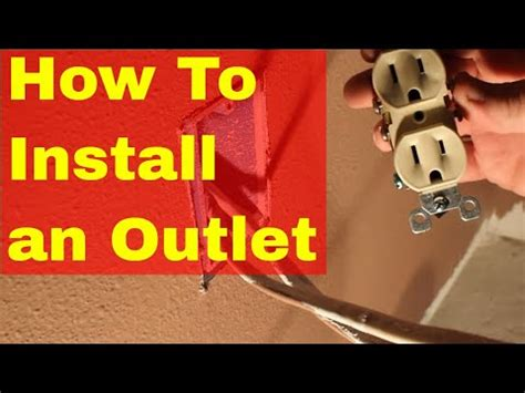install  electrical outlet loop wiring