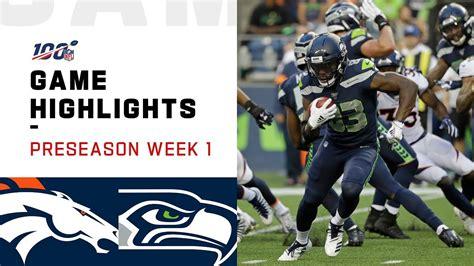 broncos  seahawks preseason week  highlights nfl