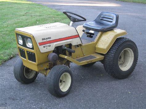 sears garden tractors vintage 1977 sears st 10 lawn garden tractor 10hp briggs