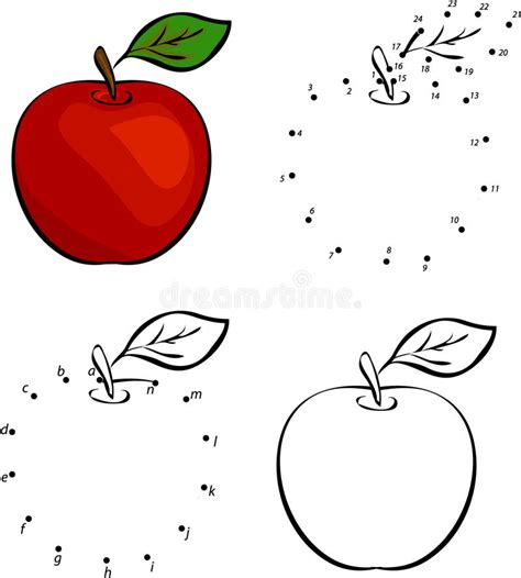 apple of a connect the dots worksheets for preschoolers