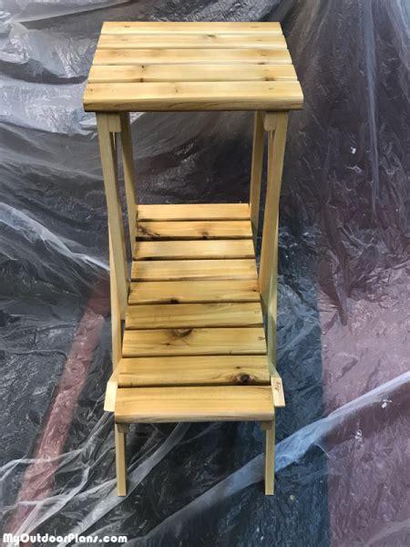 diy  tier plant stand myoutdoorplans  woodworking