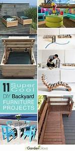 11 super cool diy backyard furniture projects o lots of for Homemade furniture tutorials