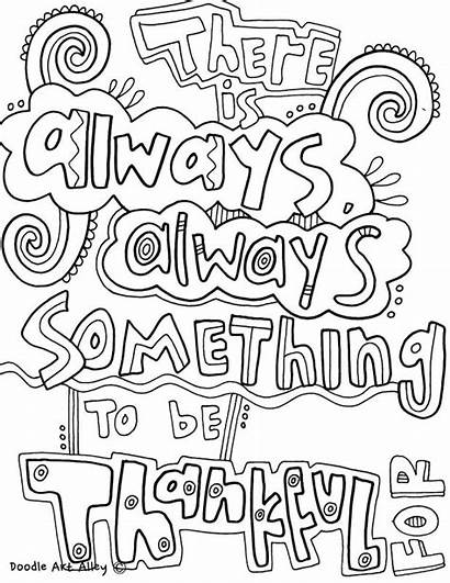 Coloring Quotes Pages Quote Doodle Mindset Alley
