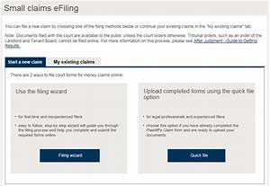 Small Claims Court E-filing Service User Guide