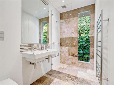 modern bathroom design  floor  ceiling windows