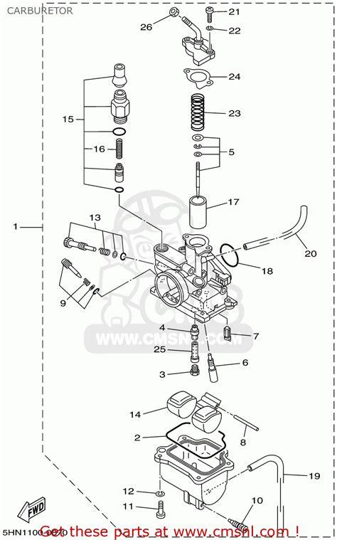 Ttr 50 Wiring Diagram by Yamaha Ttr 50 Carburetor Diagram Imageresizertool
