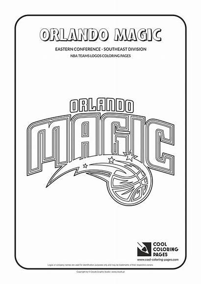 Coloring Nba Pages Magic Orlando Logos Basketball