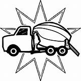 Cement Coloring Truck Prize Mixer Printable Awesome Getdrawings Getcolorings sketch template
